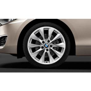BMW Winterkompletträder V-Speiche 387 bicolor (ferricgrey / glanzgedreht) 18 Zoll 1er F20 F21 2er F22 F23