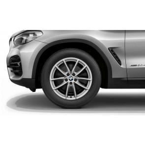 BMW Winterkompletträder V-Speiche 618 reflexsilber 18 Zoll X3 G01 X4 G02 RDCi