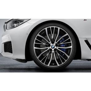 BMW Kompletträder V-Speiche 687 bicolor (schwarz / glanzgedreht) 21 Zoll 6er G32 7er G11 G12 RDCi