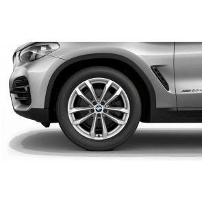 BMW Winterkompletträder V-Speiche 691 reflexsilber 19 Zoll X3 G01 X4 G02 RDCi