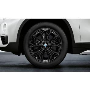 BMW Kompletträder Y-Speiche 566 jet black uni 18 Zoll X1 F48 X2 F39 RDCi