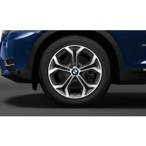 BMW Winterkompletträder Y-Speiche 607 bicolor (ferricgrey / glanzgedreht) 18 Zoll X3 F25 X4 F26