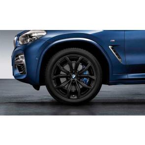 BMW Winterkompletträder Y-Speiche 695 schwarz matt 20 Zoll X3 G01 X4 G02 RDCi (Mischbereifung)