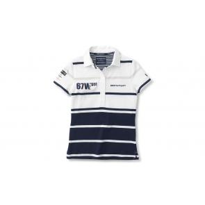 BMW Yachtsport Poloshirt Damen weiß/blau