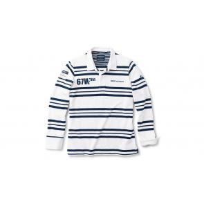 BMW Yachtsport Rugby Herren Langarm Shirt blau/weiß