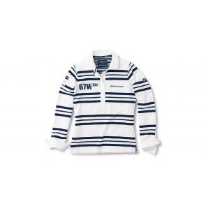 BMW Yachtsport Rugbyshirt Damen weiß/blau