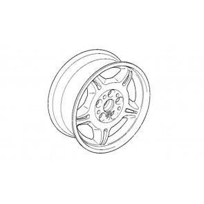 BMW Alufelge Classic M Doppelspeiche 24 poliert 7,5J x 17 ET 41 Vorderachse / Hinterachse 3er E36 Z3 E36