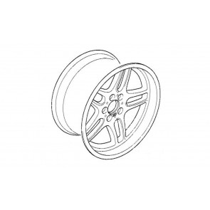 BMW Alufelge Classic M Parallelspeiche 37 poliert 9,5J x 18 ET 25 Hinterachse 7er E38 8er E31