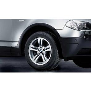 BMW Alufelge Doppelspeiche 112 8J x 17 ET 46 Silber Vorderachse / Hinterachse BMW X3 E83