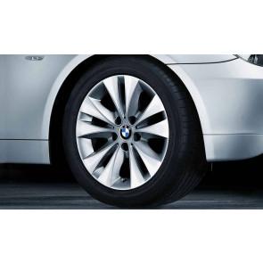 BMW Alufelge Doppelspeiche 116 7,5J x 17 ET 20 Silber Vorderachse / Hinterachse BMW 5er E60 E61