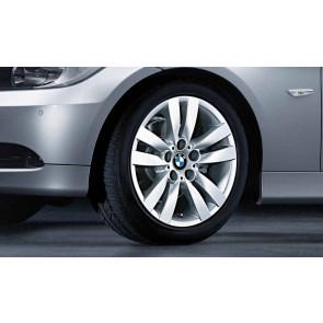 BMW Alufelge Doppelspeiche 161 silber 8J x 17 ET 34 Vorderachse 3er E90 E91 E92 E93