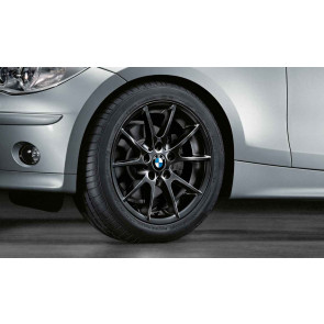 BMW Alufelge Doppelspeiche 178 schwarz 7,5J x 17 ET 47 Hinterachse 1er E81 E82 E87 E88