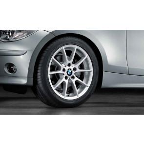 BMW Winterkompletträder Doppelspeiche 178 reflexsilber 17 Zoll 1er E81 E82 E87 E88
