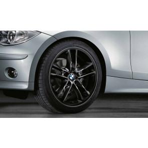BMW Alufelge Doppelspeiche 182 schwarz 7,5J x 18 ET 49 Vorderachse 1er E81 E82 E87 E88
