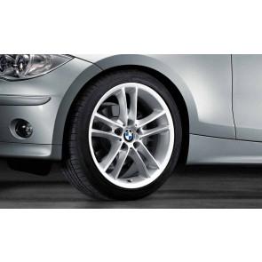 BMW Kompletträder Doppelspeiche 182 silber 18 Zoll 1er E81 E82 E87 E88