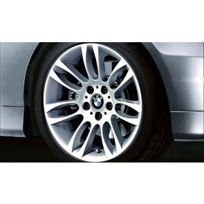 BMW Alufelge Doppelspeiche 195 8,5J x 18 ET 37 Silber Hinterachse BMW 3er E90 E91 E92 E93