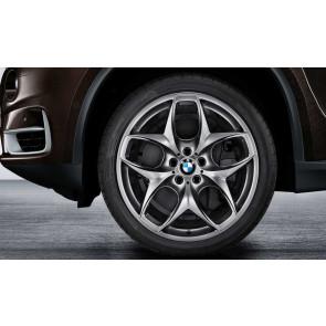 BMW Alufelge Doppelspeiche 215 ferricgrey 10J x 21 ET 40 Vorderachse X5 E70 F15 X6 E71 E72
