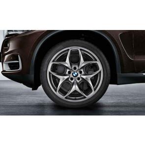 BMW Alufelge Doppelspeiche 215 ferricgrey 11,5J x 21 ET 38 Hinterachse X5 E70 X6 E71 E72