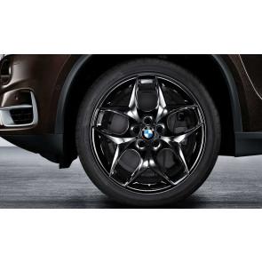 BMW Alufelge Doppelspeiche 215 schwarz glänzend 11,5J x 21 ET 38 Hinterachse X5 E70 X6 E71 E72
