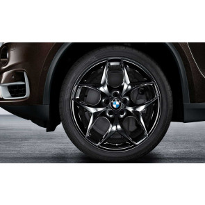 BMW Kompletträder Doppelspeiche 215 schwarz glänzend 21 Zoll X5 E70 F15 X6 F16 RDCi