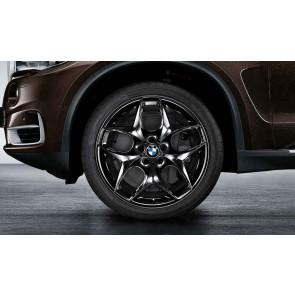 BMW Kompletträder Doppelspeiche 215 schwarz glänzend 21 Zoll X5 F15 X6 F16 RDCi