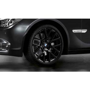 BMW Winterkompletträder Doppelspeiche 238 schwarz 19 Zoll 5er F07 7er F01 F02 F04 RDC LC