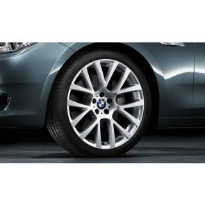 BMW Winterkompletträder Doppelspeiche 238 silber 19 Zoll 5er F07 7er F01 F02 F04 RDC LC