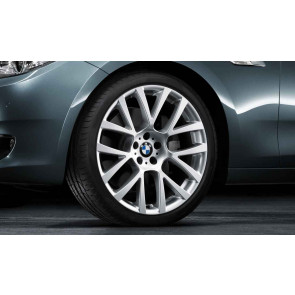 BMW Alufelge Doppelspeiche 238 silber 9,5J x 19 ET 39 Hinterachse 5er F07 7er F01 F02 F04