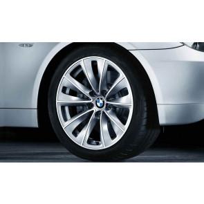 BMW Alufelge Doppelspeiche 247 9J x 18 ET 32 Silber Vorderachse / Hinterachse BMW 5er E60