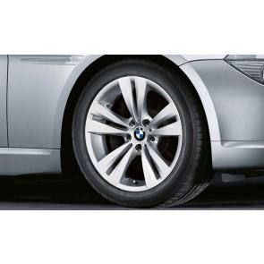 BMW Alufelge Doppelspeiche 266 9J x 18 ET 14 Silber Hinterachse BMW 6er E63 E64