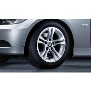 BMW Alufelge Doppelspeiche 268 silber 7J x 16 ET 31 Vorderachse / Hinterachse 3er E90 E91