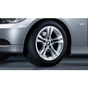 BMW Kompletträder Doppelspeiche 268 silber 16 Zoll 3er E90 E91