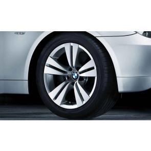 BMW Alufelge Doppelspeiche 278 silber 8J x 17 ET 20 Vorderachse / Hinterachse 5er E60 E61 ohne xDrive