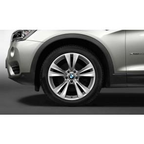 BMW Winterkompletträder Doppelspeiche 309 silber 19 Zoll X3 F25 X4 F26 (Mischbereifung)