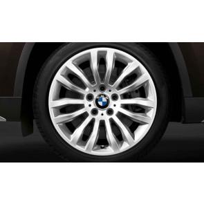 BMW Alufelge Doppelspeiche 321 silber 8J x 18 ET 30 Vorderachse / Hinterachse X1 E84