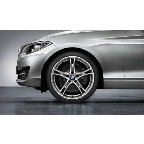 BMW Alufelge Doppelspeiche 361 bicolor (ferricgrey / glanzgedreht) 8J x 19 ET 52 Hinterachse 1er F20 F21 2er F22 F23