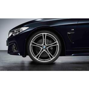 BMW Kompletträder Doppelspeiche 361 bicolor (ferricgrey / glanzgedreht) 20 Zoll 3er F30 F31 4er F32 F33 F36 RDCi (Mischbereifung)