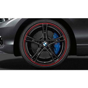 BMW Kompletträder Doppelspeiche 361 bicolor (schwarz mit rotem Felgenring) 20 Zoll 3er F30 F31 4er F32 F33 F36 RDCi