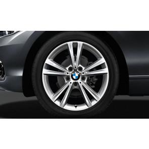 BMW Kompletträder Doppelspeiche 385 reflexsilber 18 Zoll 1er F20 F21 2er F22 F23 RDCi