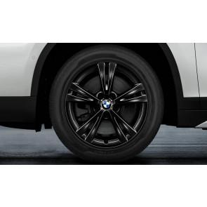 BMW Winterkompletträder Doppelspeiche 385 schwarz 17 Zoll X1 F48 X2 F39 RDCi