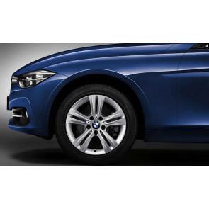 BMW Alufelge Doppelspeiche 392 silber 7,5J x 17 ET 37 Vorderachse / Hinterachse 3er F30 F31 4er F32 F33 F36