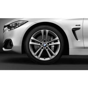 BMW Alufelge Doppelspeiche 397 bicolor (ferricgrey / glanzgedreht) 8J x 18 ET 34 Vorderachse / Hinterachse 3er F30 F31 F34 4er F32 F33 F36