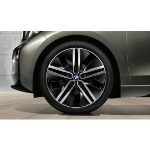 BMW Alufelge Doppelspeiche 430 bicolor (schwarz / glanzgedreht) 5,5J x 20 ET 53 Hinterachse rechte Fahrzeugseite i3
