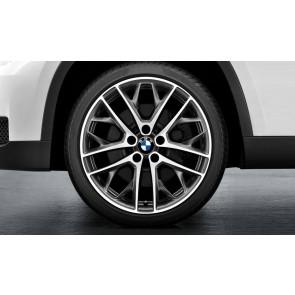 BMW Alufelge Doppelspeiche 465 bicolor (ferricgrey / glanzgedreht) 9J x 19 ET 41 Hinterachse X1 E84
