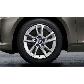 BMW Winterkompletträder Doppelspeiche 474 reflexsilber 16 Zoll 2er F45 F46 RDCi