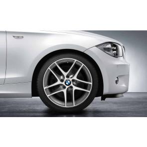 BMW Alufelge Doppelspeiche 496 glanzgedreht 7,5J x 18 ET 49 Vorderachse 1er E81 E82 E87 E88