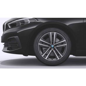 BMW Alufelge Doppelspeiche 548 bicolor (orbitgrey / glanzgedreht) 7,5J x 17 ET 54 Vorderachse / Hinterachse 1er F40 2er F44