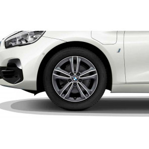 BMW Alufelge Doppelspeiche 549 bicolor (orbitgrey / glanzgedreht) 7,5J x 17 ET 54 Vorderachse / Hinterachse 1er F40 2er F44 F45 F46