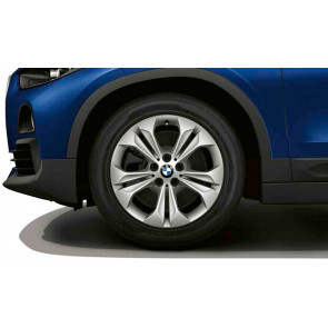 BMW Alufelge Doppelspeiche 564 reflexsilber 7,5 J x 17 ET 52 Vorderachse / Hinterachse X1 F48 X2 F39