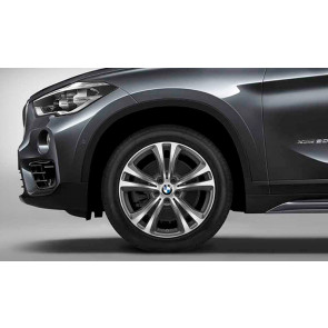 BMW Alufelge Doppelspeiche 568 bicolor (ferricgrey / glanzgedreht) 568 7,5 J x 18 ET 51 Vorderachse / Hinterachse X1 F48